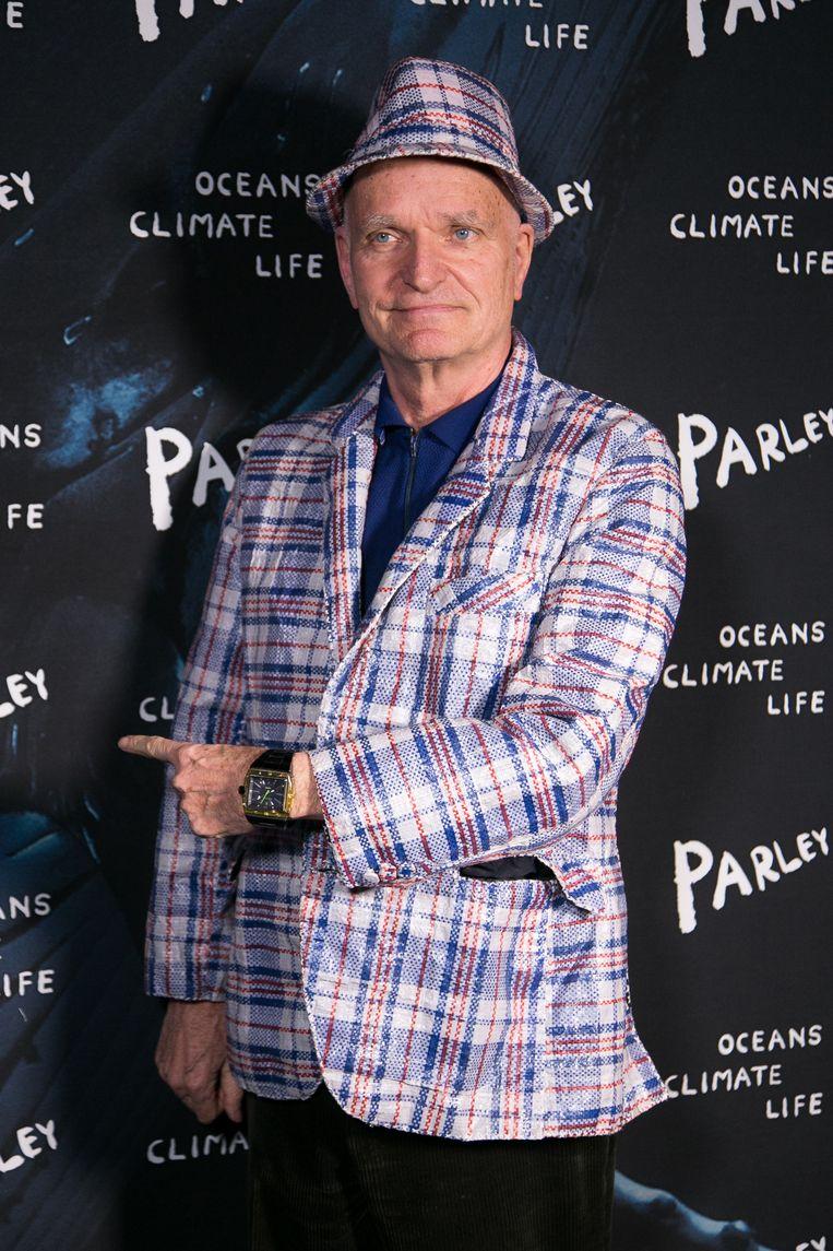 Florian Schneider in Parijs, 2015. Beeld Getty Images
