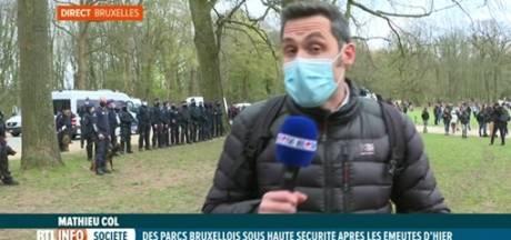 """Un journaliste de RTL interrompu en plein duplex: """"Je vous ai demandé de me laisser travailler, merci"""""""