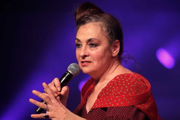 Catherine Ringer, lors du défilé Jean Paul Gaultier, à Paris, le 22 janvier 2020.