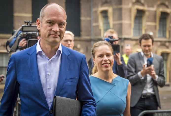 Gert-Jan Segers komt aan op het Binnenhof voor de formatiegesprekken