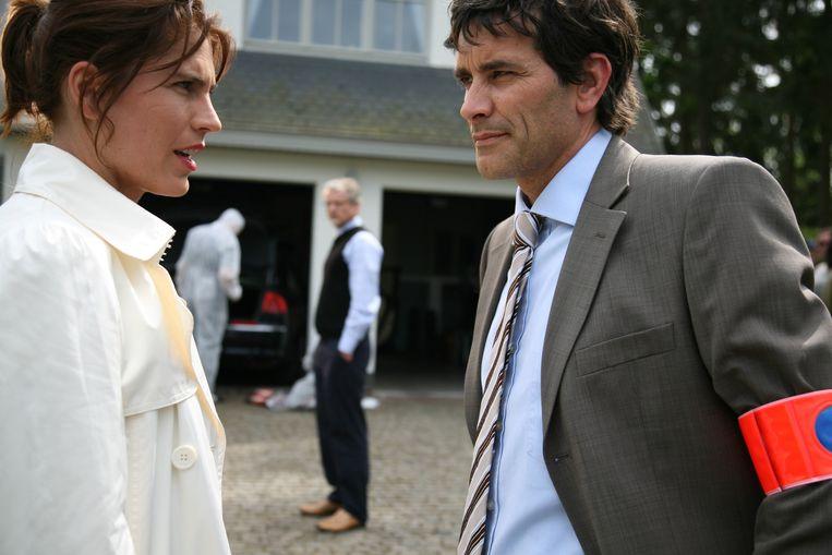 Joke Devynck en Koen De Bouw in 'Vermist'. Beeld rv