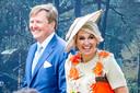 Koning Willem-Alexander en koningin Maxima op Koningsdag 2019 in Amersfoort.