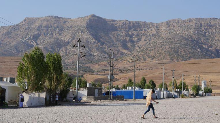 Vluchtelingenkamp Bersiwe in Iraaks Koerdistan. Beeld Bruno Struys