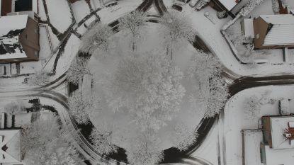 Dronebeelden tonen ondergesneeuwd Prinsenhof