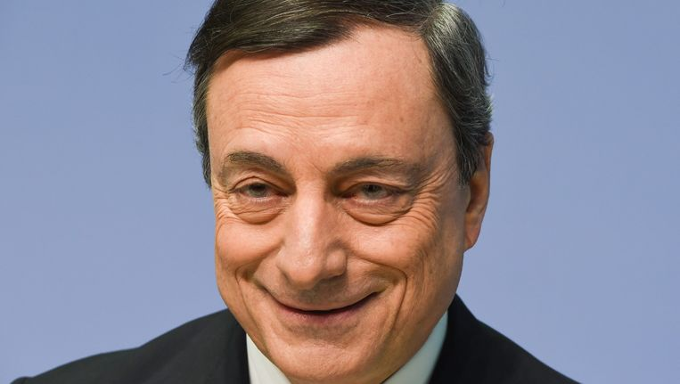 ECB-voorzitter Mario Draghi. Beeld epa