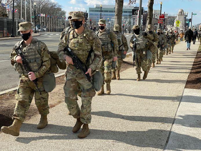 Leden van de Nationale Garde in Washington DC.