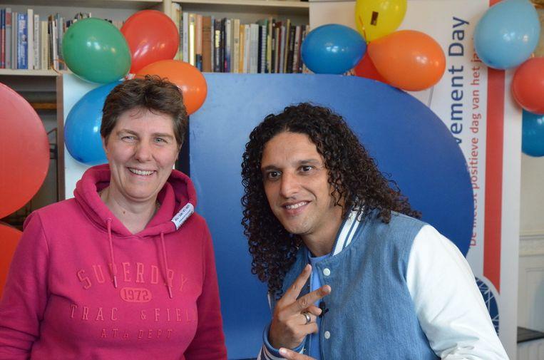 Mascha Struijk en Ali B bij de uitreiking van de BID Positivity Awards. Beeld