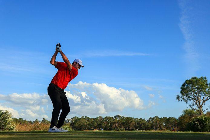 Scottie Scheffler was één van de golfers die in Woods-outfit aantrad.