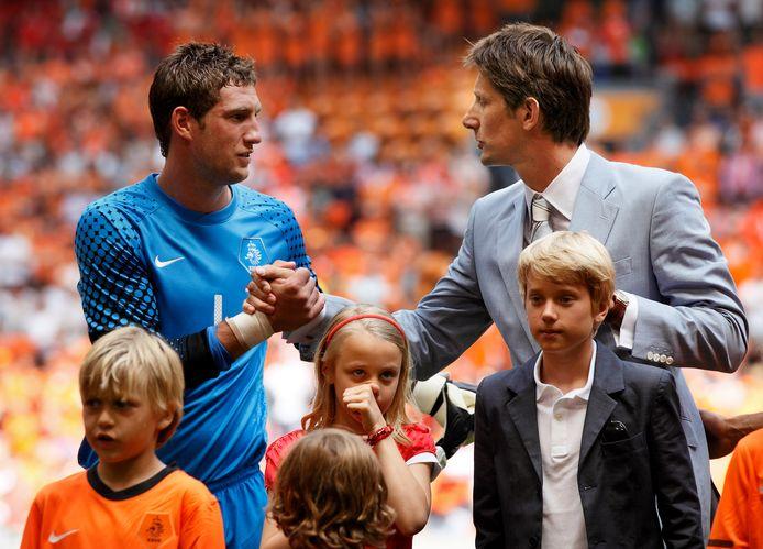 Edwin van der Sar en Maarten Stekelenburg