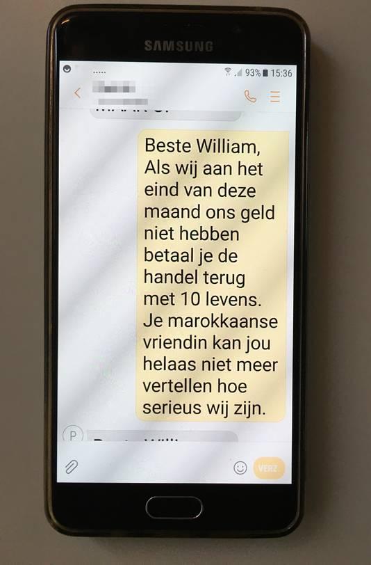 Dreig-SMS'jes aan eigenaren Fruithandel De Groot in Hedel.
