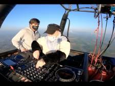 Feestje op 300 meter hoogte: dj's draaien hoog boven Gent in luchtballon