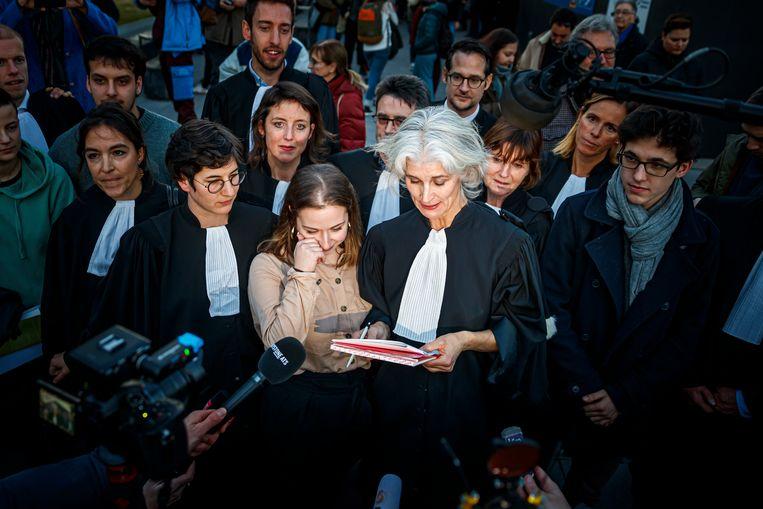 Het verdict in het voordeel van de Zwitserse klimaatjongeren wordt met argusogen gevolgd door activisten elders in de wereld Beeld AP