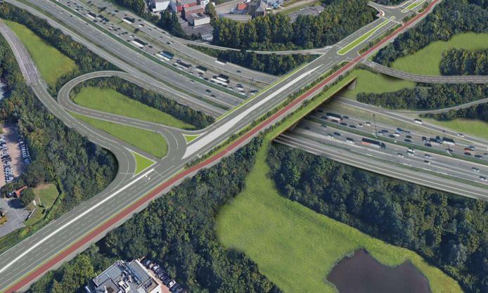 De nieuwe brug op de Henneaulaan zal dubbel zo breed zijn als de huidige.