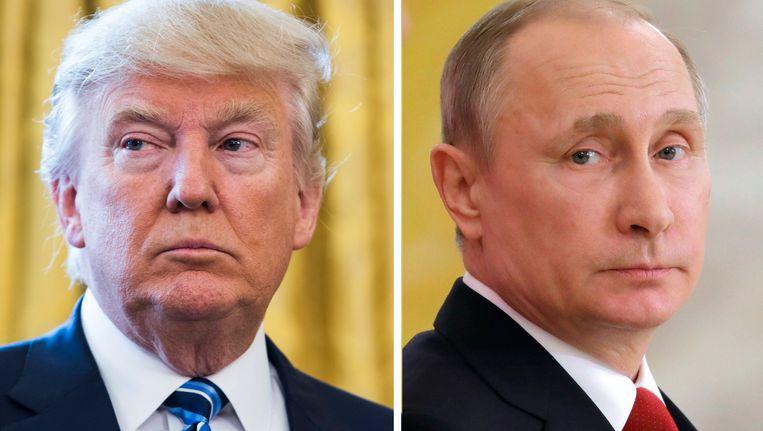 Donald Trum en Vladimir Poetin Beeld EPA