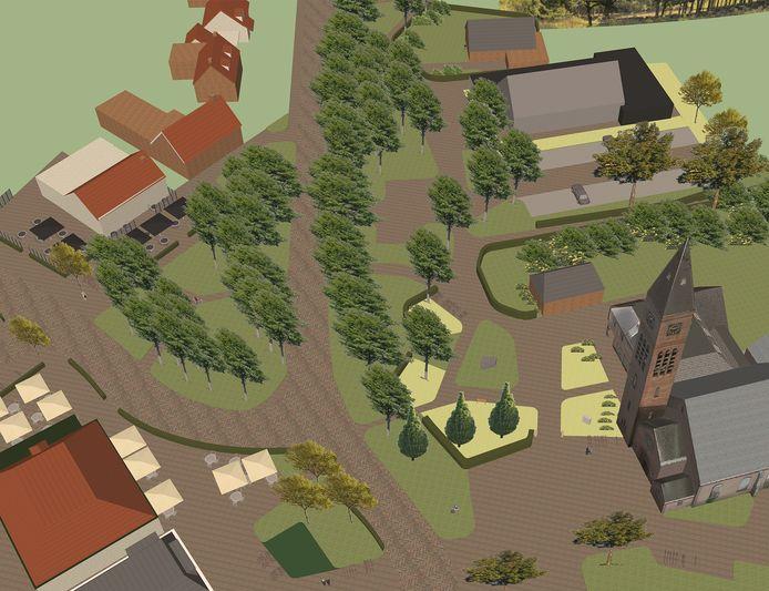 Impressie van het vernieuwde dorpshart van De Lutte, waar bewoners, horeca en andere ondernemers nog hun zegje over kunnen doen.