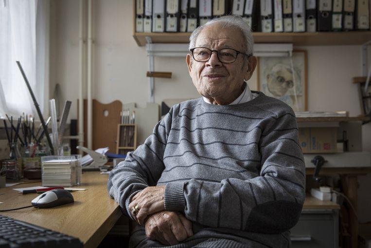 Jules Schelvis, een van de weinige overlevenden van Sobibor.  Beeld Dingena Mol