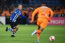 Youri Roseboom voetballend bij FC Eindhoven.
