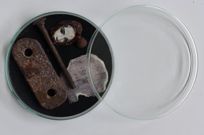 Een van de beeldend kunstenaressen, die haar werk tentoonstelt in Blokzijl, is Ria Penthum die onder meer dit kunstwerk toont.