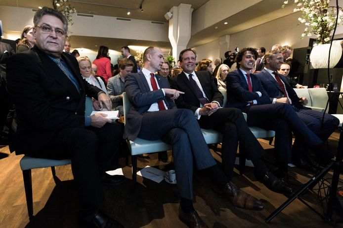 Henk Krol (links) tijdens een debat in aanloop naar de verkiezingen in 2017.