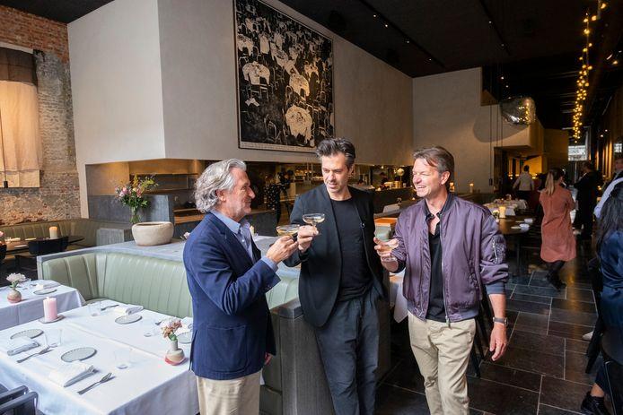 Sergio Herman met Luc en Miguel Dheedene in Le Pristine.