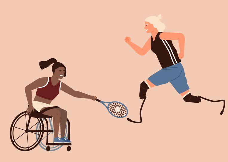 Paralympics illustratie Beeld Shutterstock