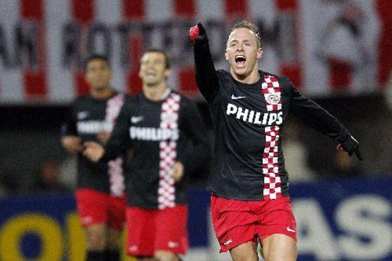 PSV wint op het Kasteel met 3-2 van Sparta en pakt de koppositie in de eredivisie. Foto ANP Beeld