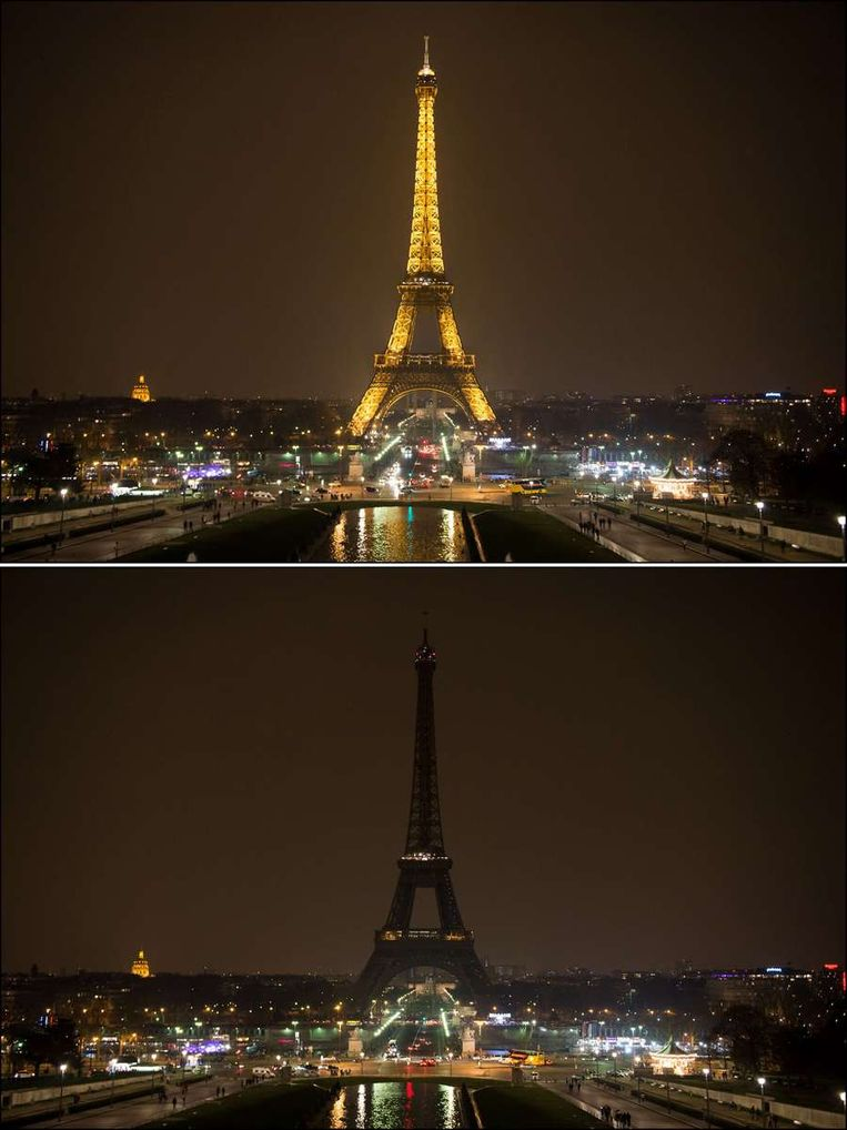 De Eiffeltoren in Parijs. Beeld afp