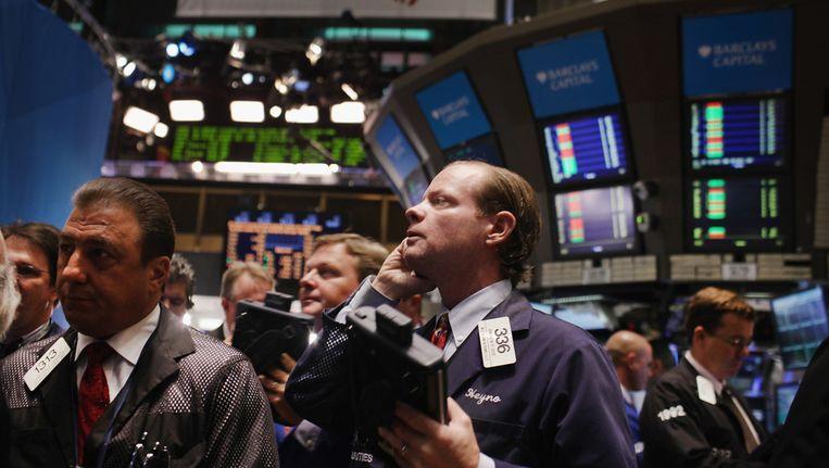 De beursvloer van Wall Street. Beeld afp