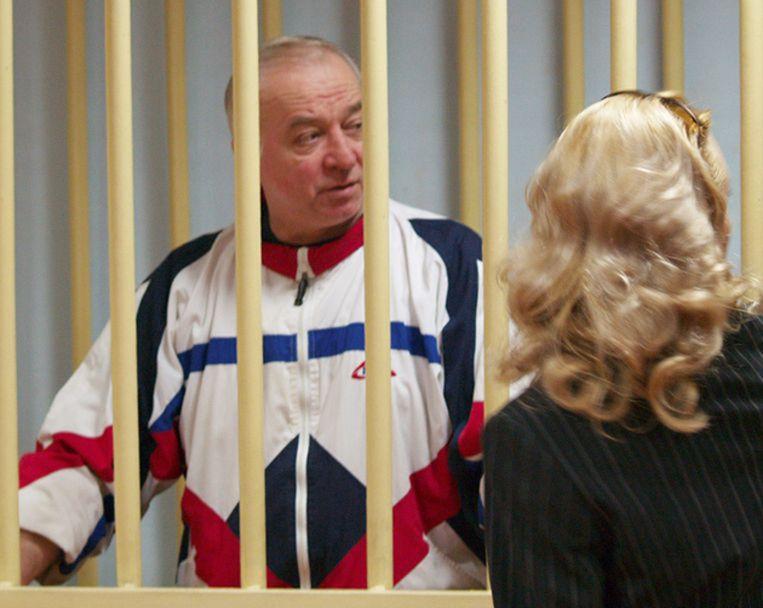 Archieffoto van Sergej Skripal tijdens zijn proces in Moskou. De man werd samen met zijn dochter Joelia vergiftigd in Groot-Brittannië. De Britten beschuldigen Rusland. Beeld Photonews
