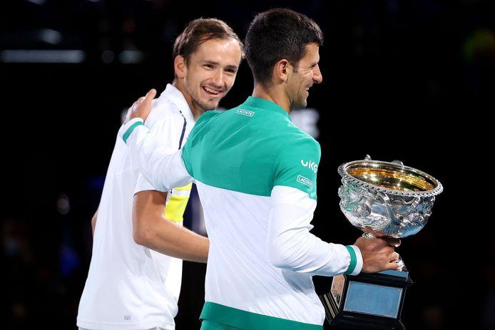 Novak Djokovic en Daniil Medvedev.