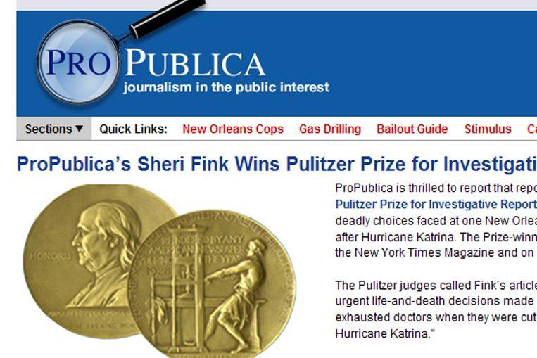 Screen van website ProPublica (ProPublica) Beeld