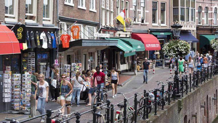 Winkels op de vismarkt in het centrum van Utrecht. Beeld ANP