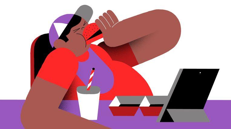 Niet alleen peuters hebben te kampen met overgewicht, ook almaar meer oudere kinderen zijn te zwaar.  Beeld Levi Jacobs