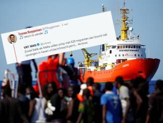 """N-VA-jongerenvoorzitter maakt zich vrolijk over 629 migranten die vastzitten tussen Italië en Malta: """"Return to sender"""""""
