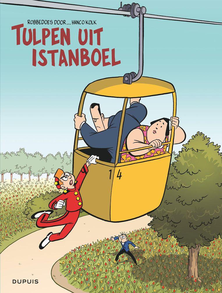 De recente Robbedoes-strip 'Tulpen uit Istanboel' werd getekend door Nederlander Hanco Kolk.  Beeld Vrij van copyright