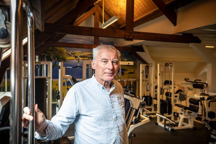 Martin Bossink in de sportschool.