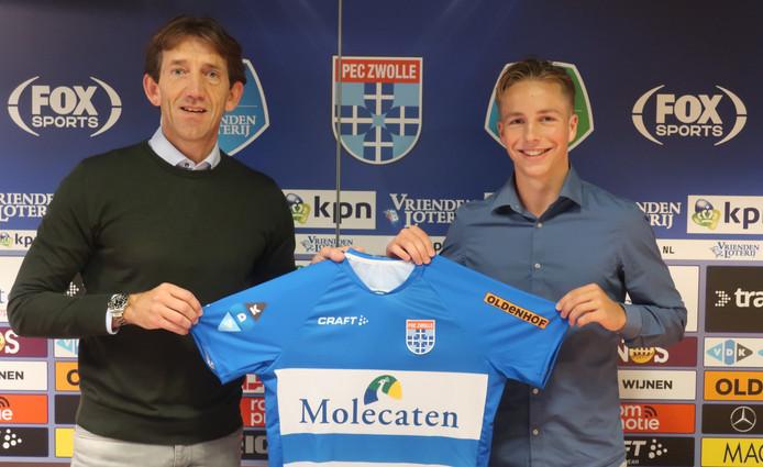 Onder meer Lucas Tol uit Urk tekent een contract bij de Zwollenaren.