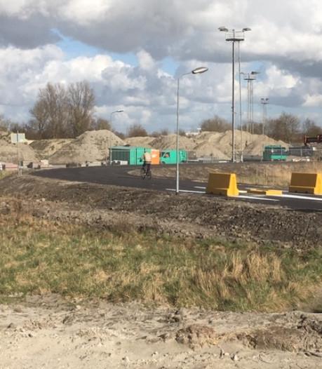 Fietsers kunnen via een speciale lus het bouwverkeer in Vlissingen vermijden