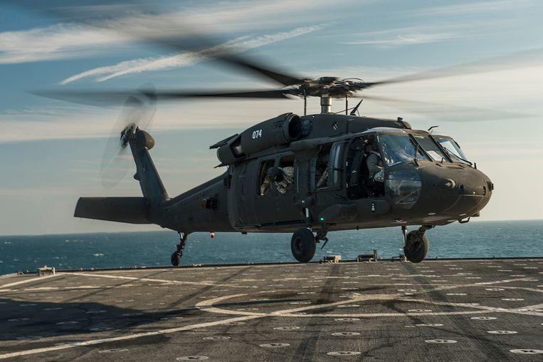 Een Amerikaanse Blackhawk-helikopter, archiefbeeld ter illustratie. Beeld Reuters