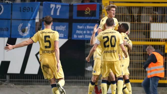 Bruges brise l'invincibilité de Charleroi et prend les commandes du championnat
