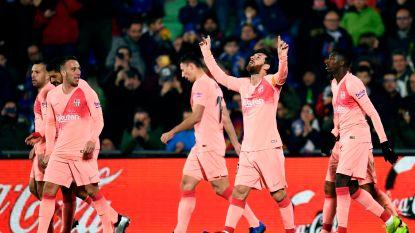 Barcelona kroont zich tot winnaar van het Spaanse voetbalweekend na uitzege bij Getafe: Messi en co staan vijf punten los in La Liga