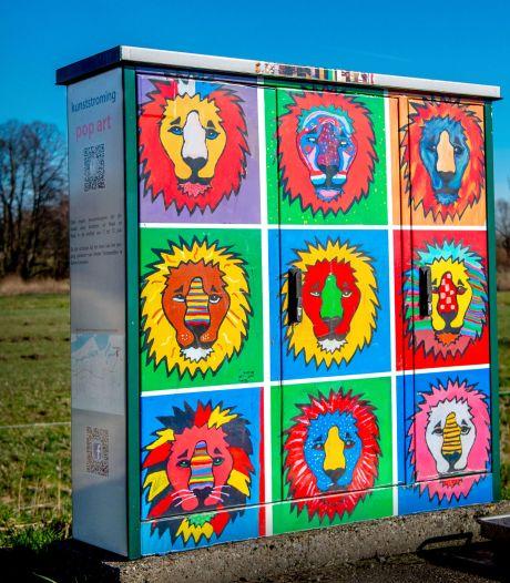 Kijken naar elektriciteitskasten moet leuk worden in Boxmeer: 'Hier heb je een spuitbus'