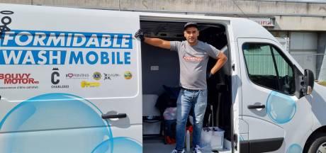 """La Wash Mobile de Charleroi sera à Chaudfontaine pour les sinistrés: """"Nous avons pris congé"""""""
