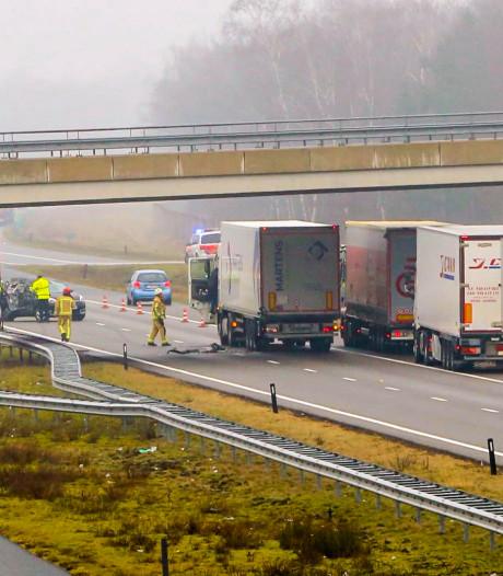 Tweede ongeluk op A67: weg weer open