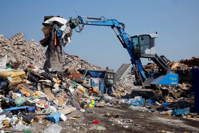 Afvalverkwer KoreNet in Groot-Ammers.