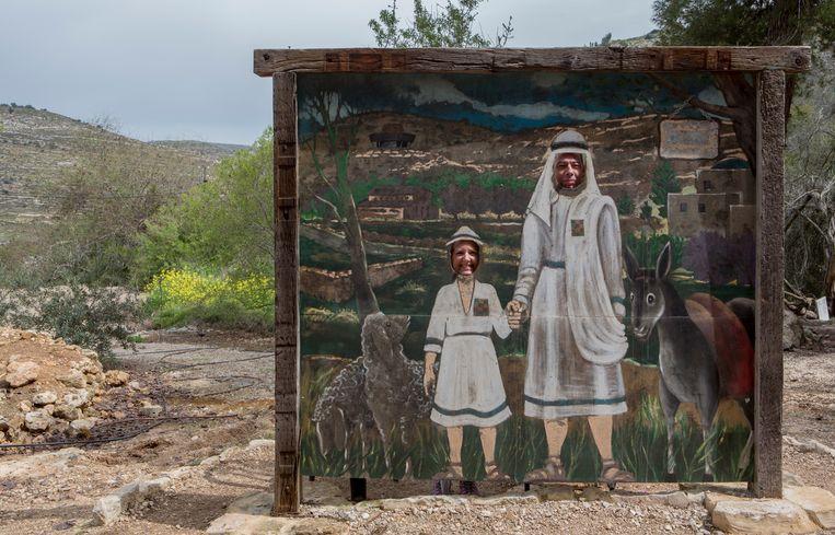 De Joodse nederzetting Tel Shiloh in Israël is veranderd in een toeristische attractie voor evangelisten. Beeld Geert van Kesteren