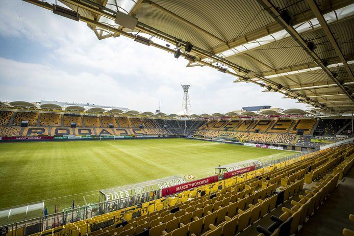 Het Parkstad Limburg Stadion in Kerkrade, sinds 2000 de thuishaven van Roda JC.