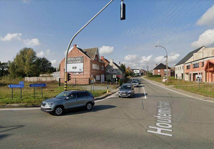 Aldi wil een nieuwe winkel bouwen aan de hoek van de Houtemstraat en de N42.