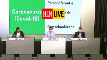 """LIVE. Volg hier de persconferentie van het Crisiscentrum over de coronacijfers - """"Mensen hebben signalen door, mogelijk ook schijnbaar gevoel van vertraging in stijging besmettingen"""""""