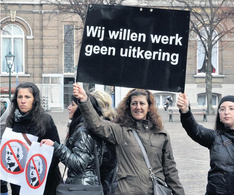 De Bulgaarse gemeenschap in Nederland kwam vorig jaar op voor gelijke rechten en protesteerde tegen Geert Wilders.